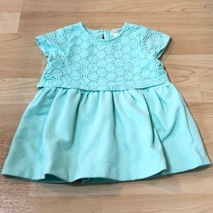 Adorable mint colored dress and diaper cover